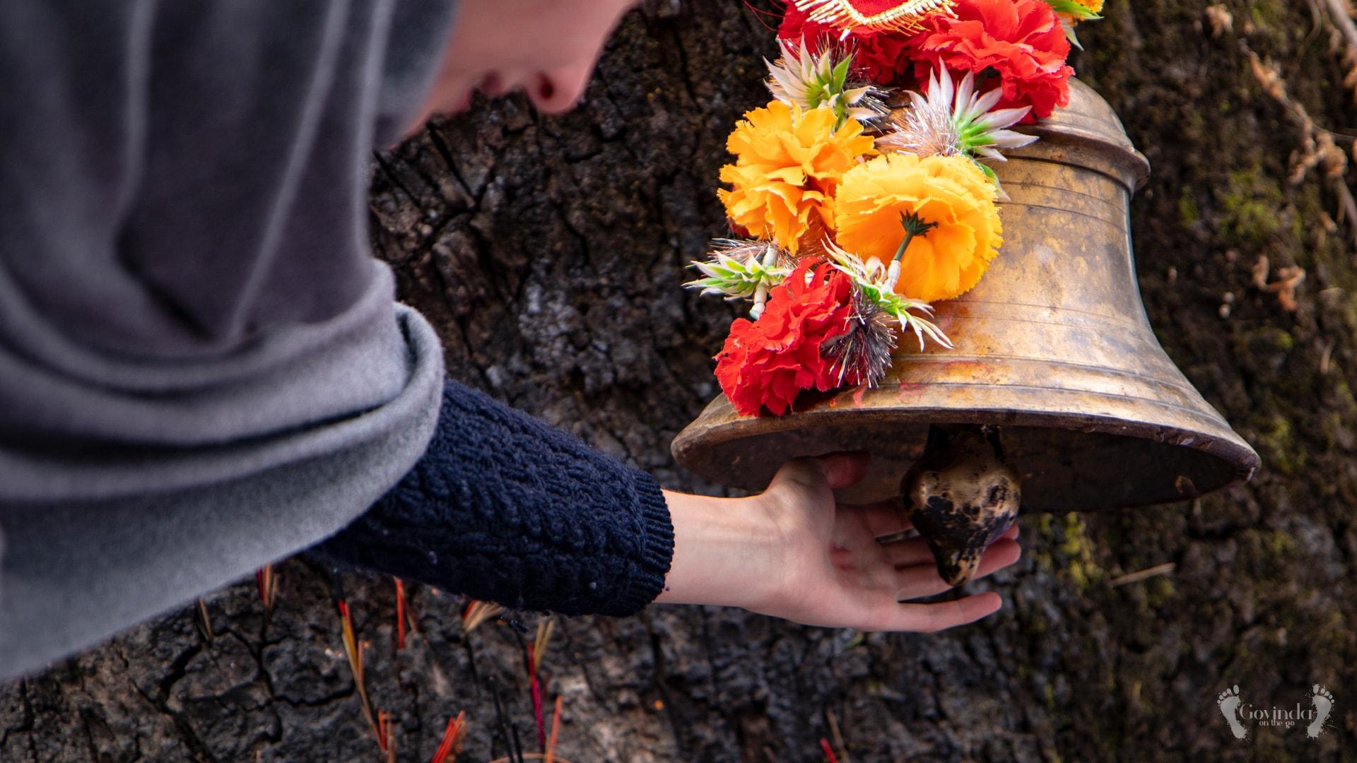 Bell on tree under which Mahavatar Babaji was meditating