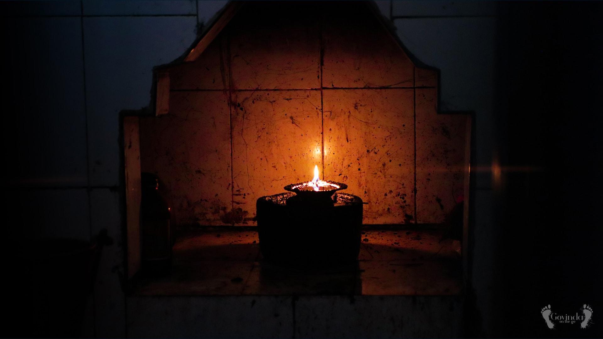 Candle lit by Chaitanya Mahaprabhu in Puri