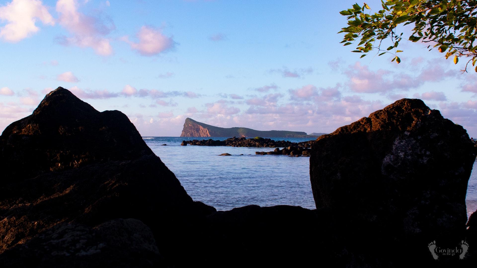 Gunners Quoin island near Mauritius