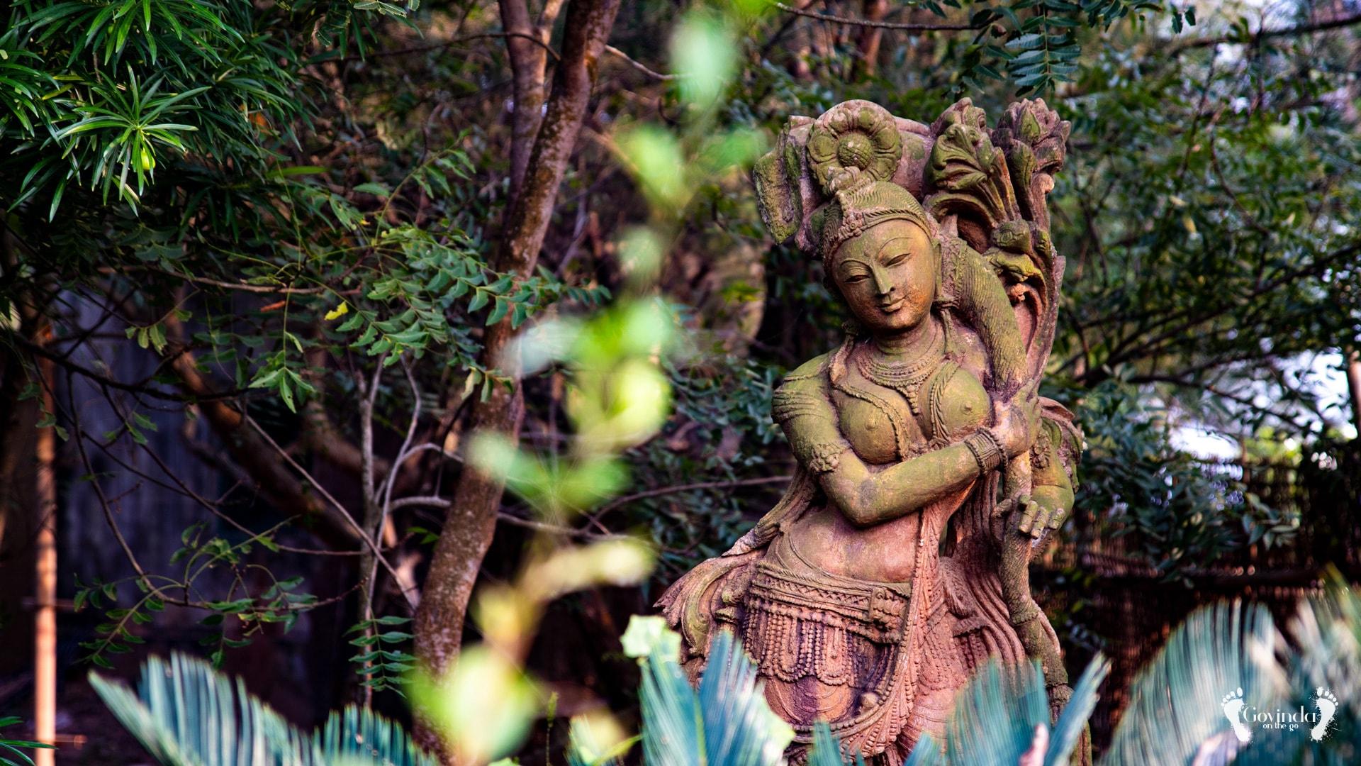 Female statue at Lotus eco resort in Konark