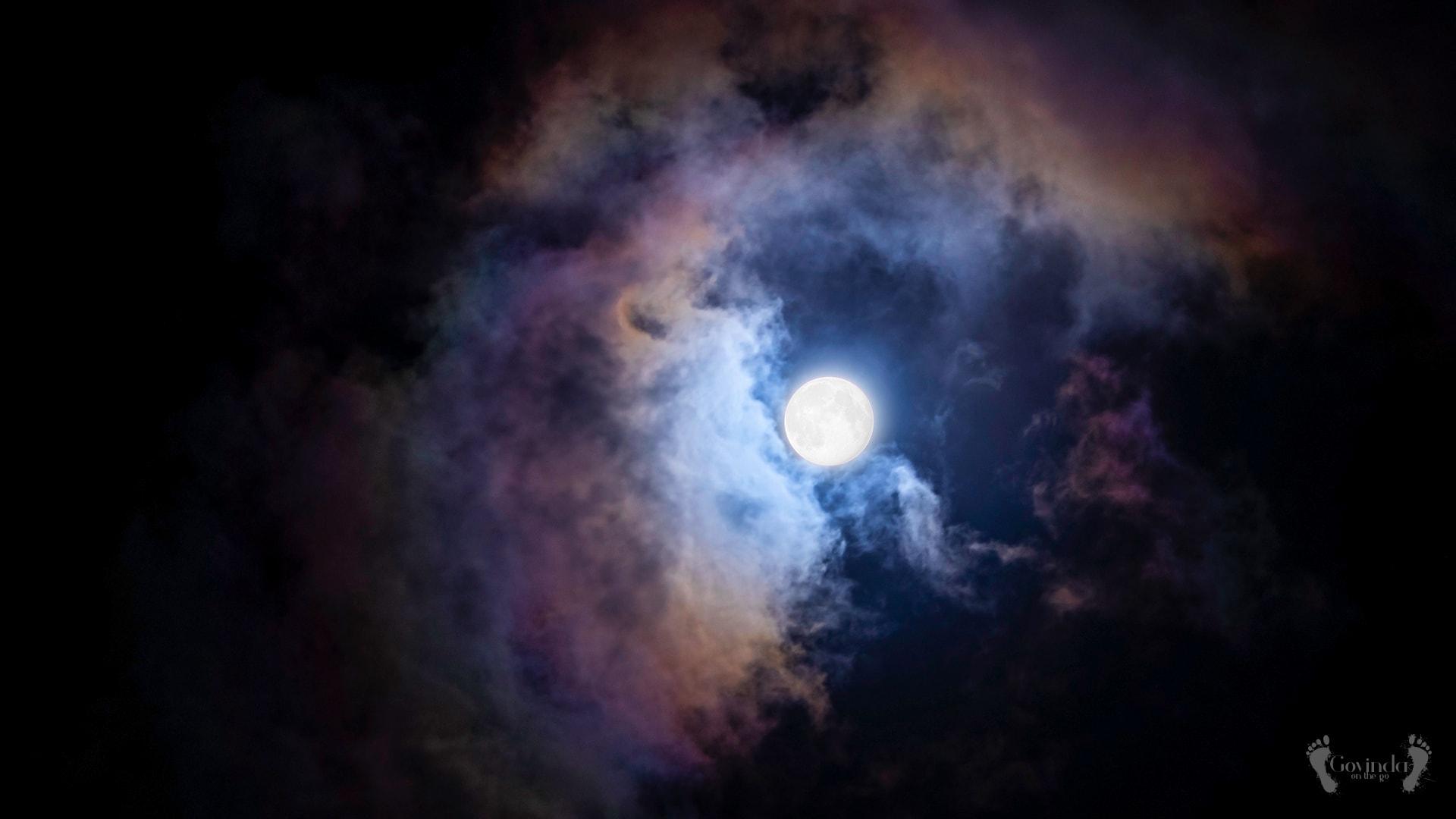 Full Moon on Mauritius sky