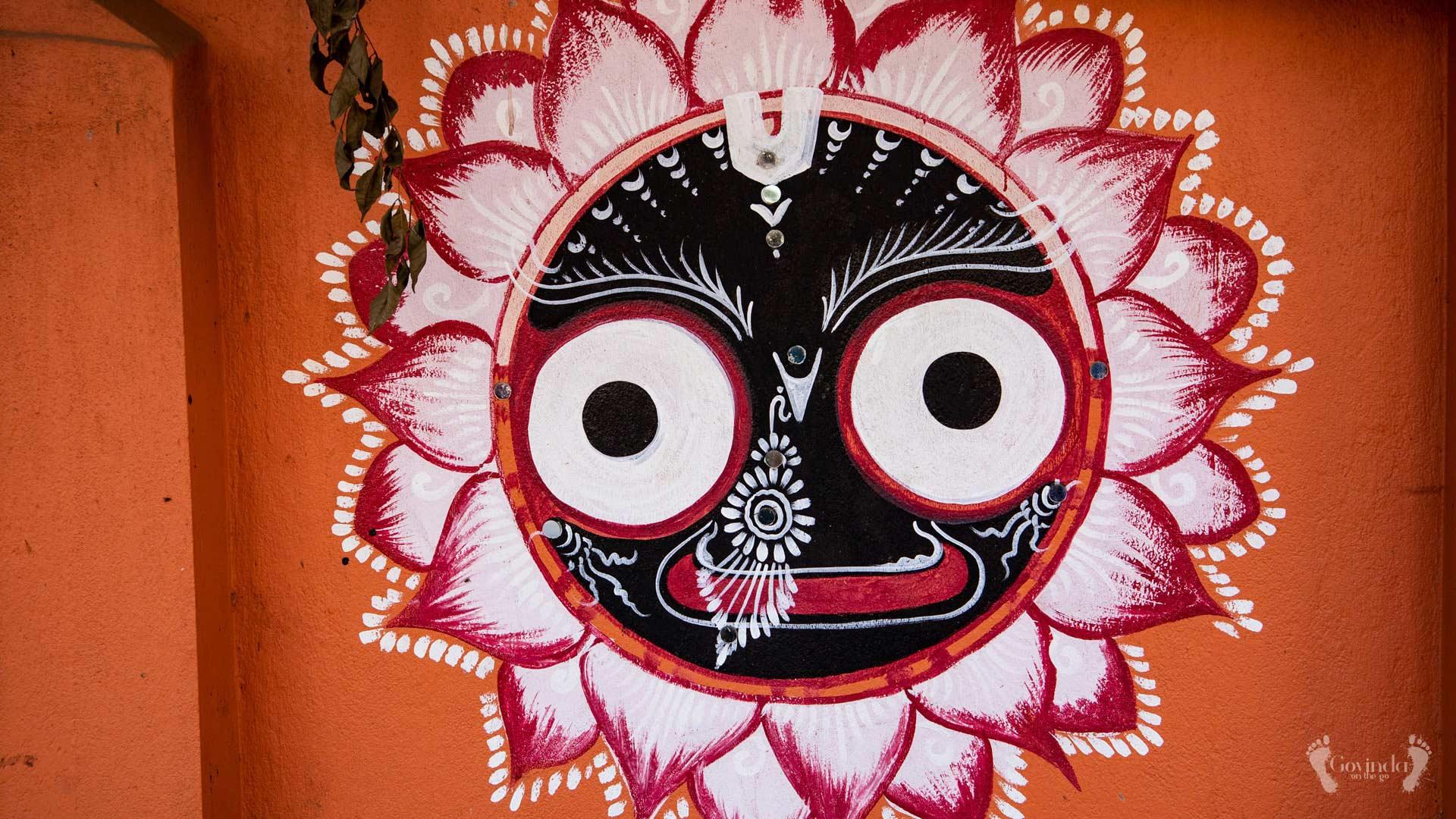 Jaganath wall painting in Bhubaneshwar