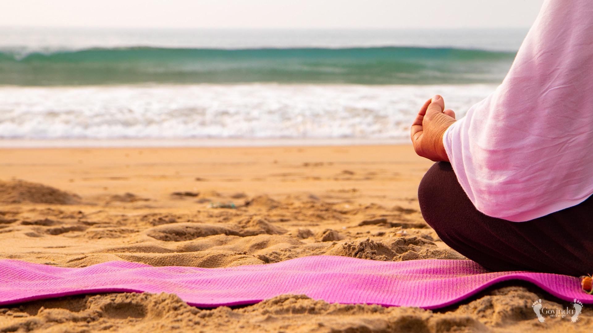 Meditation on Ramachandi beach during silent retreat