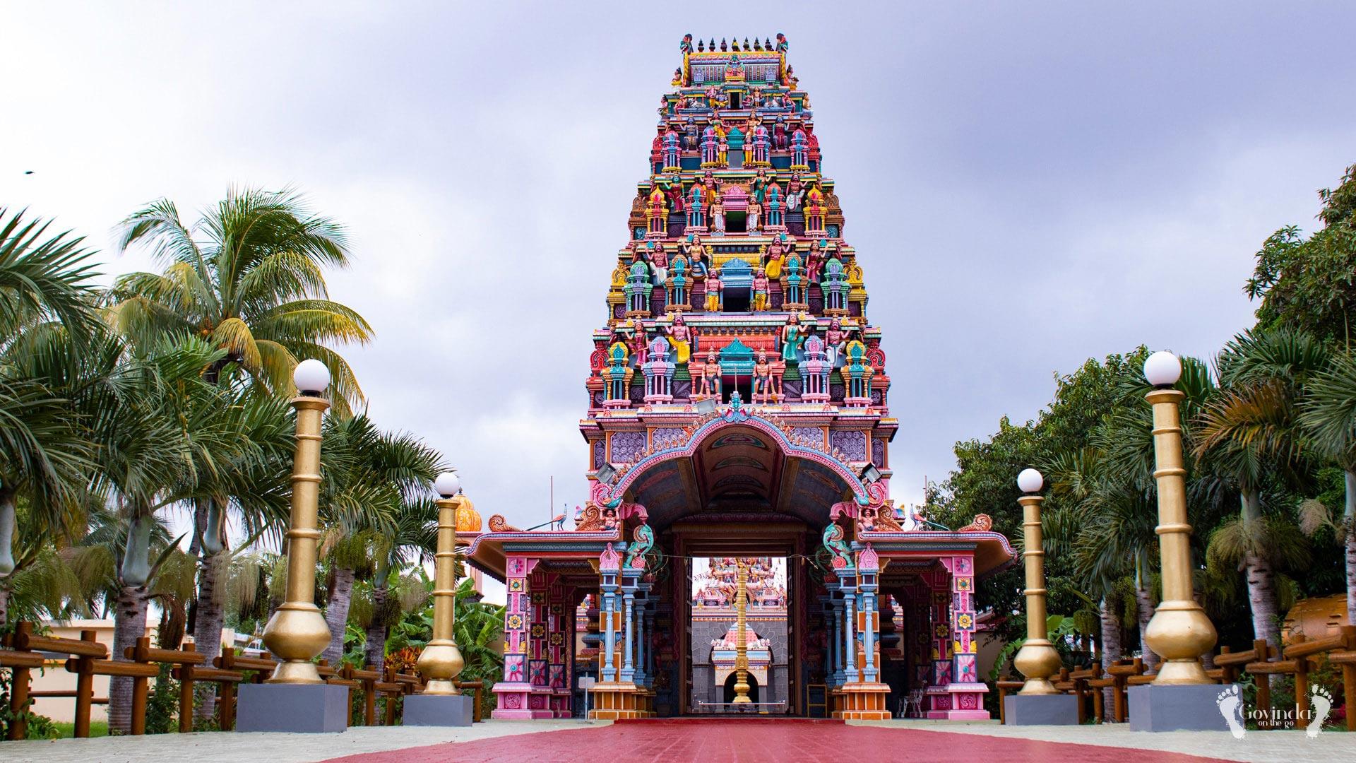 Meenakshi temple in Mauritius