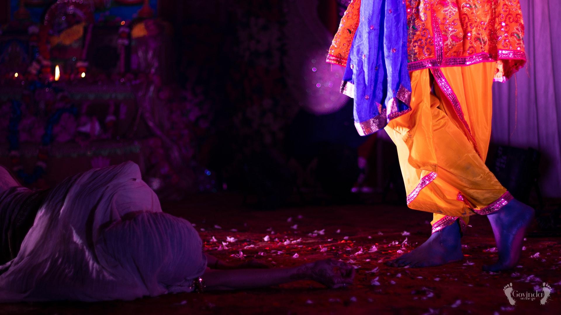 Meerabai theatre play during Karthik night celebrations