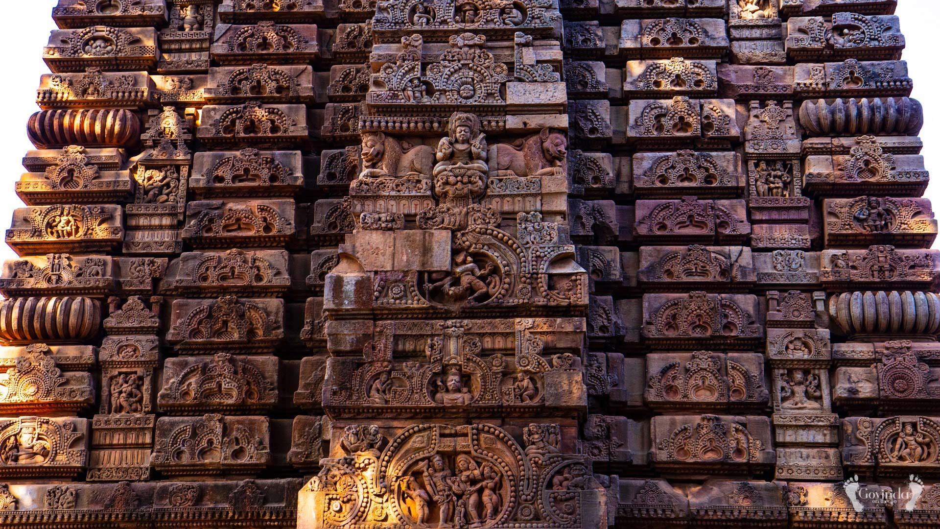 Ornaments on the temple in Bhubaneshwar
