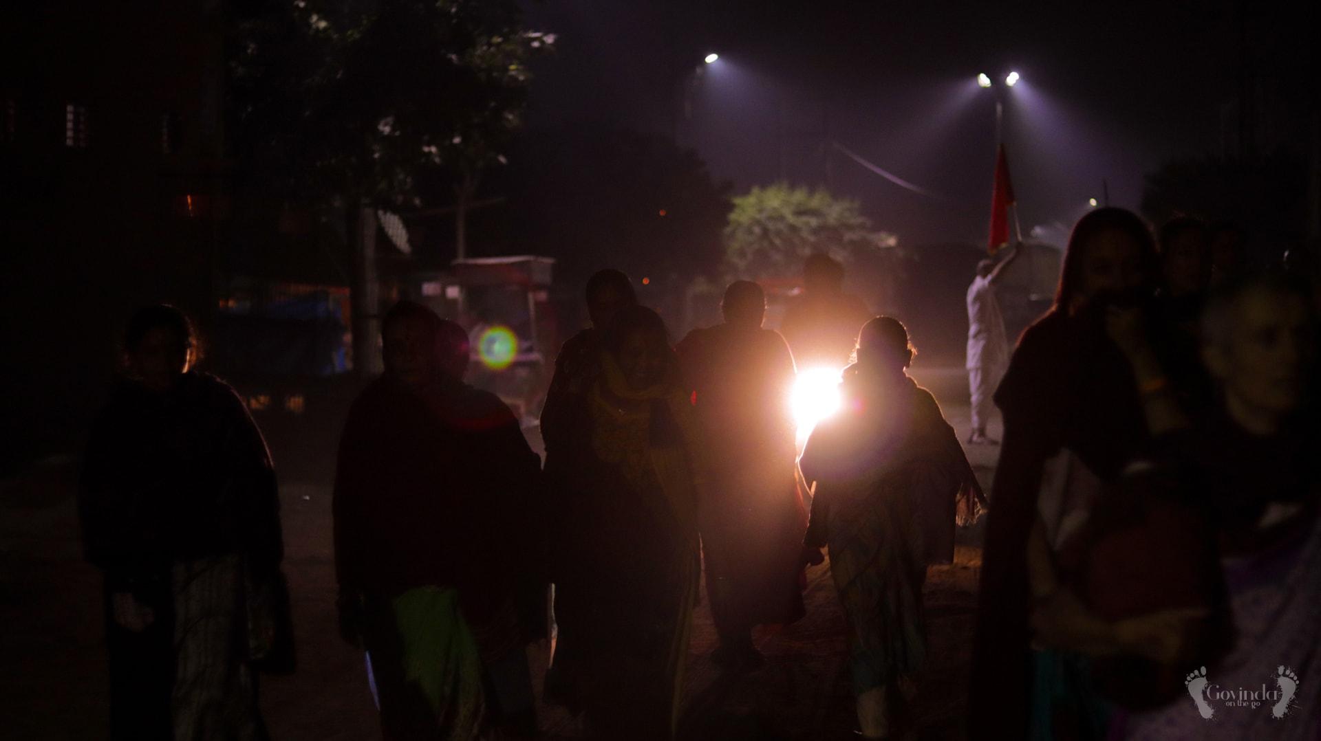 Night parikrama around Vrindavan