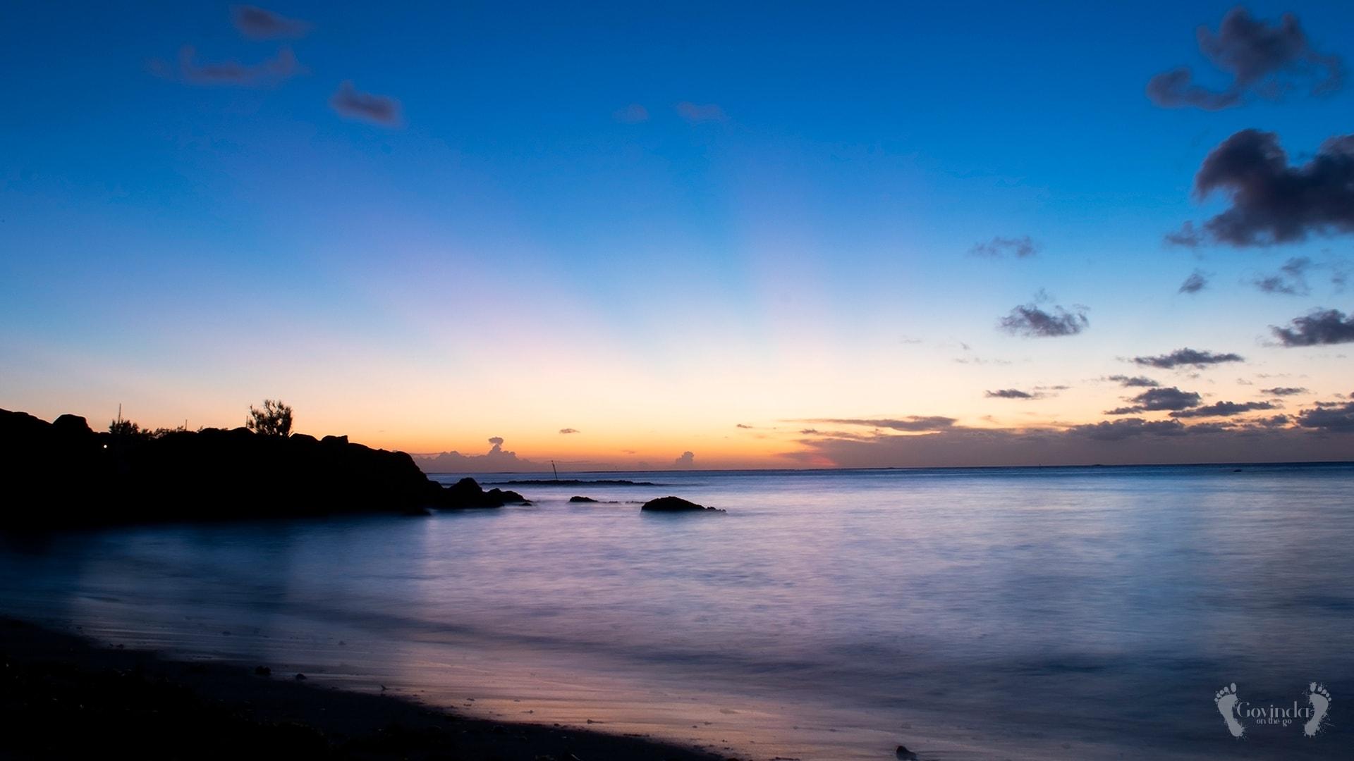 Sunset at Cap Malheureux, Mauritius