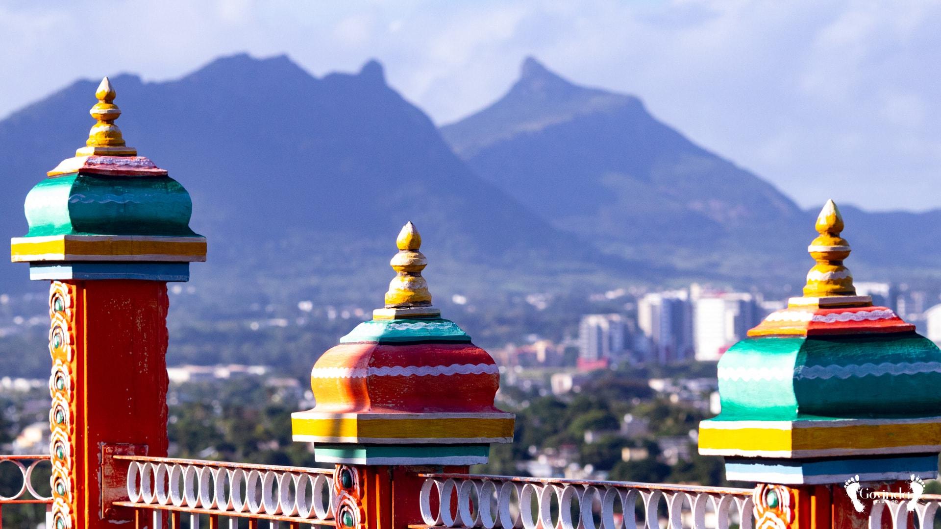 View from Vela Murugan temple in Mauritius