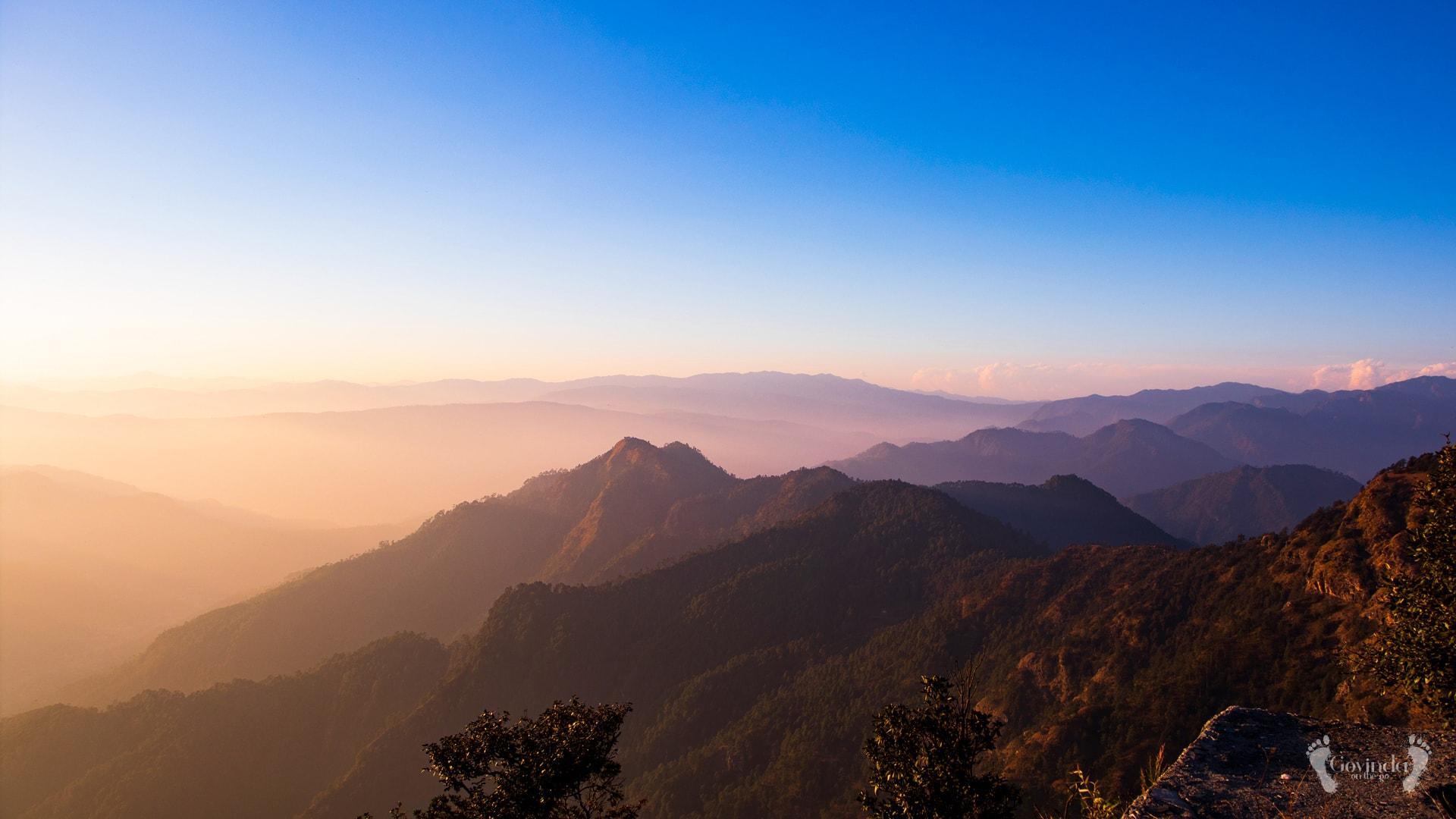 View form Ma Sukhadevi Mandir in Dunagiri