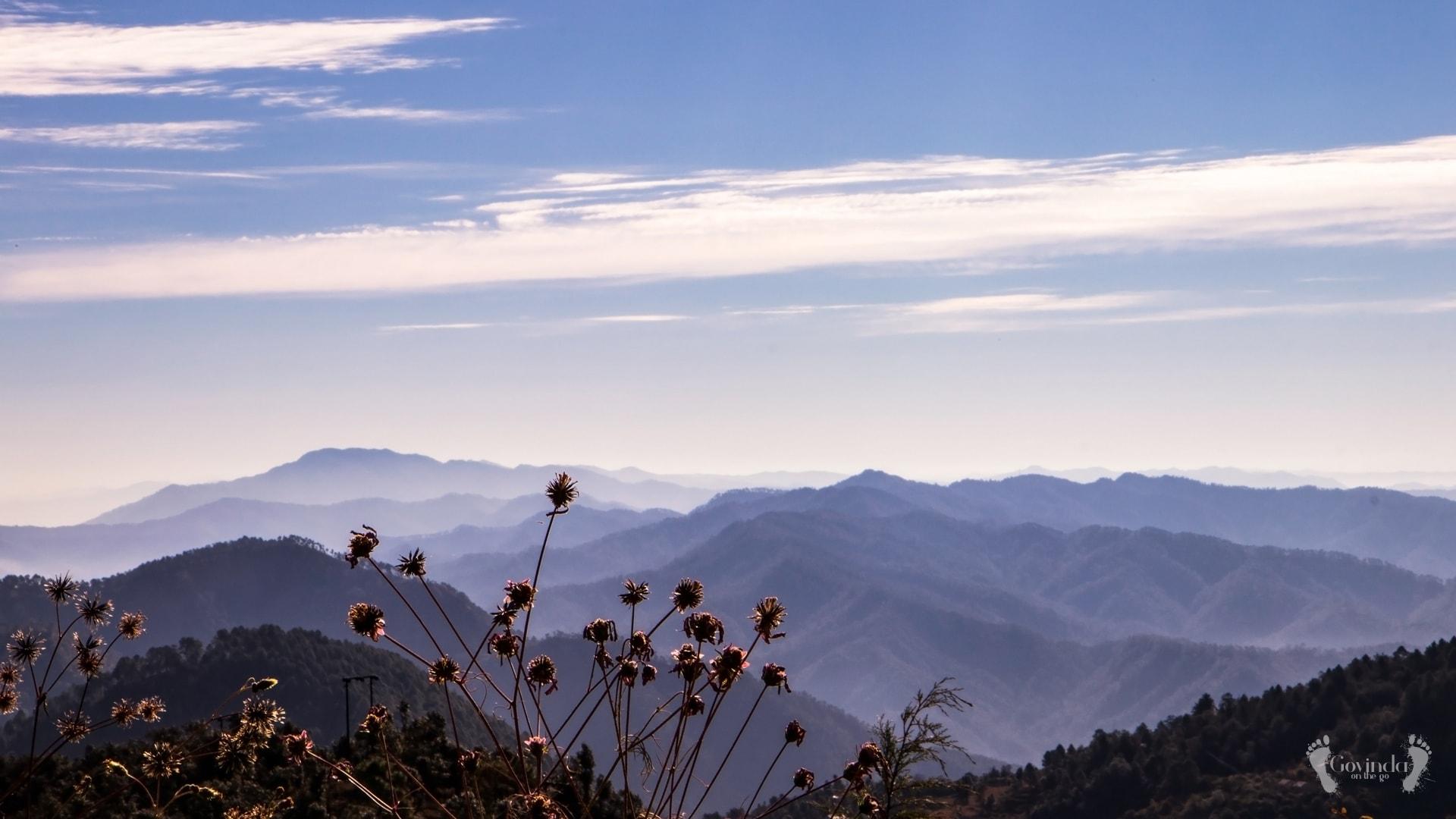 View from Dunagiri retreat center
