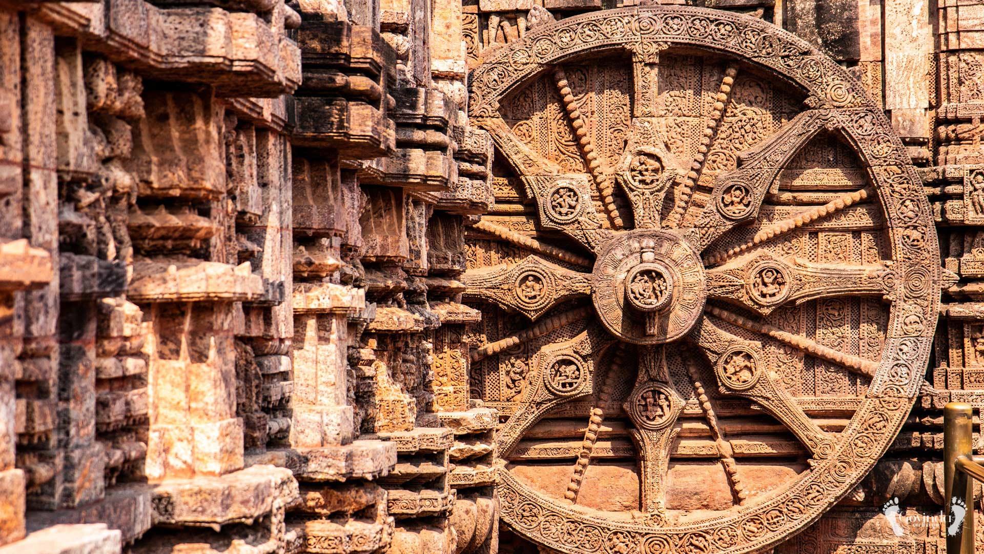 Wheel of time in Surya temple in Konark